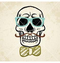 Decorative skull vector - by W1nDkh on VectorStock®