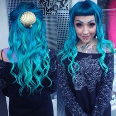 """Popiatom on tumblr asks, """"Do you believe in mermaids now?"""" Use our Mermaid hair color for this light aqua shade."""