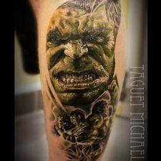 #hulk #hulktattoo #realistictattoo #portraittattoo #avengers #theavengers #tats #tattoo ...