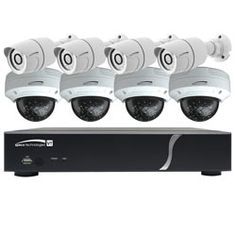 Shop a great collection of Complete Surveillance Kits and other home security systems. Bullet Camera, Spy Camera, Security Solutions, Home Security Systems, Wireless Security, Security Camera, Home Surveillance, Phone Charger, Kit