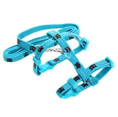Adjustable Cat Harness and Leash Set with Nylon Strap for Cats  Small Pets Light Blue * Details can be found by clicking on the image. (This is an affiliate link) #CatCollarsHarnessesandLeashes