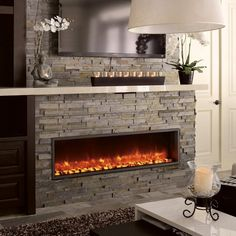 Dynasty Built-In Electric LED Fireplace - Experience the warmth of an electric fireplace and the wonder of an LED light show with the Dynasty Built-In Electric LED Fireplace. Available in your...