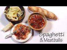 Easy Spaghetti & Meatballs - Polymer Clay Tutorial - YouTube