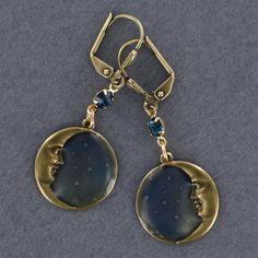 Sadie Green's Hand Enameled Moons in Brass