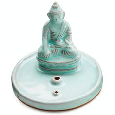 Incense Burner Celadon Buddha - Tibet Collection This charming 3 inch diameter ceramic incense burner is made with a seated Buddha or Enlightened One. Earthenware, Stoneware, Buddha Figures, Celadon, Prayer Flags, Incense Cones, Ceramic Figures, Incense Holder, Incense Burner