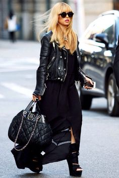 Rachel Zoe looking fabulous in all black.
