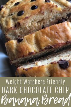 I just love a good banana chocolate chip loaf, I already have one that I made way back when… Low Fat Banana Bread, Weight Watcher Banana Bread, Weight Watchers Muffins, Weight Watchers Breakfast, Weight Watchers Desserts, Skinny Banana Bread, Healthy Banana Bread, Low Fat Chocolate, Chocolate Chip Banana Bread