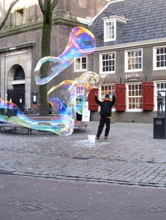 Street performance at Amsterdam