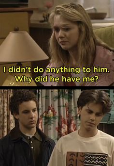 """When Cory and Shawn tried to help a girl with an abusive father. 