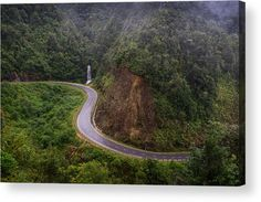 The road near waterfall in Sapa, vietnam Acrylic Print by Denys Siryk Thing 1, Acrylic Sheets, Got Print, Any Images, Your Image, Clear Acrylic, Fine Art America, Vietnam, Waterfall
