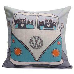 Linen Cotton Pillow Case Waist Back Throw Cushion Cover Home Sofa CAR Decor | eBay