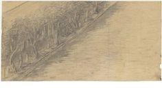 Δημήτρης Πικιώνης Ακρόπολη-Φιλοπάππου, Προσχέδιο από το δρόμο του Φιλοπάππου 1954 - 1957 ΑΝΑ_67_55_02 - Europeana