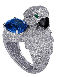 Cartier Sapphire & Diamond Ring http://amzn.to/2tpv7IA