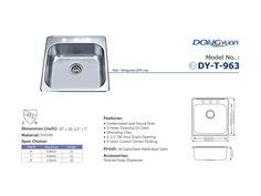 Dongyuan - 20 inch #304 Stainless Steel 20 Gauge Single Bowl drop in Kitchen Sink