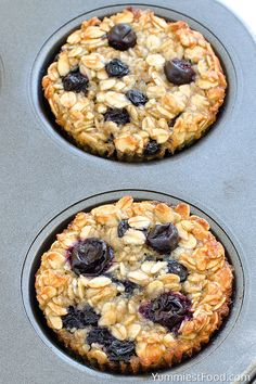 Baked Blueberry Banana Oatmeal Cups - perfect and healthy way to start your day! Delicious, moist and not too sweet! Very easy to make, fast to eat and good choice for every occasion!