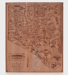 Baltimore Wood Map by Neighborwoods on Scoutmob Shoppe