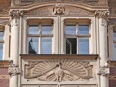 Jugendstil (Art Nouveau) building in Riga, Latvia. (Smilšu 2)