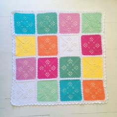 Signed With an Owl: Victorian Lattice Baby Blanket