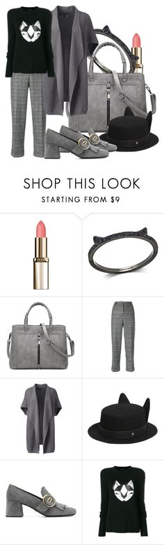 """Catty"" by baratheon-girl ❤ liked on Polyvore featuring L'Oréal Paris, Kate Spade, Kiltie, Lands' End, Karl Lagerfeld, Prada, Frankie Morello and plus size clothing"