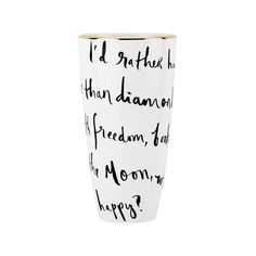 """Kate Spade Daisy Place I'd Rather Be Vase - 9"""""""