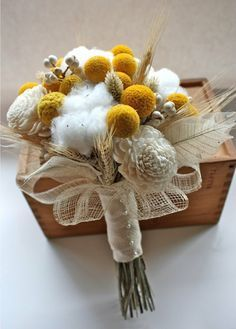 cotton ball wedding bouquets - Google Search