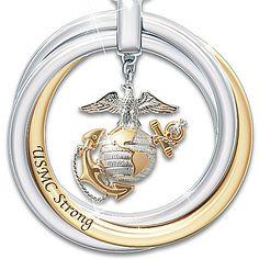 Necklace: USMC Strong Pendant Necklace