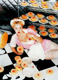 Available for sale from Staley-Wise Gallery, David LaChapelle, Drew Barrymore: A Waitress C-Print David Lachapelle, Drew Barrymore, William Eggleston, Ellen Von Unwerth, Mario Sorrenti, Terry Richardson, Erwin Olaf, Girls Gallery, Film Director