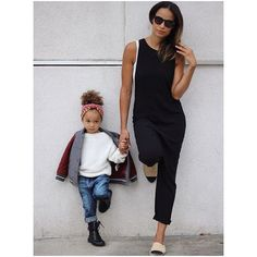 11 Times A Toddler Dressed Fresher Than Us #refinery29  http://www.refinery29.com/scout-london-instagram#slide-2  Like stylish mama, like stylish daughter.