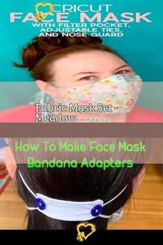 Fabric Mask Set - Meadow FREE PATTERN! How to Sew a Bias Tape Surgical Face Mask with Flexible Nose   Sweet Red Poppy #facemask #mascaras  #maschere #masken #masks #masques #mask #facemasks<br> Diy Mask, Diy Face Mask, Pocket Pattern, Free Pattern, Crochet Faces, Acne Face Mask, Bias Tape, Red Poppies, Hair Ties