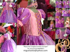 Rapunzel Tangled costume Barbie Disney princess gown dress bride girl graduation quinceanera XV party pageant  bridesmaid medieval wedding