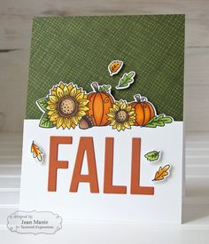 Autumn brings a happy harvest and bountiful blessings in the fall stamp set with coordinating die. Use Cutting Edge - Fall to create handmade cards for Thanksgiving or to send Autumn wishes. Halloween Cards, Fall Halloween, Die Cut Cards, Thanksgiving Cards, Fall Cards, Cardmaking, Christmas Gifts, Greeting Cards, Paper Crafts
