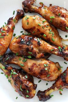 Sweet 'n Spicy Asian Glazed Grilled Drumsticks | Skinnytaste