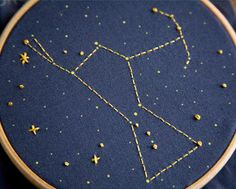 Orion Constellation Embroidery Kit by Miniature Rhino eclectic artwork
