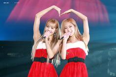 Rose and Lisa from Blackpink Kim Jennie, Jenny Kim, Yg Entertainment, Bts And Twice, South Korean Girls, Korean Girl Groups, K Pop, Blackpink Members, Blackpink Photos