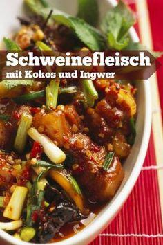 Asia-Gemüse mit mariniertem Schweinefilet | Rezept | Asia gemüse ...