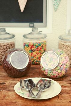 I'm tempted just to jar our cereal and keep it all on the table all the time. We eat it 24/7 anyway so it is never put away...