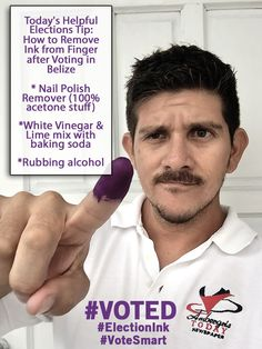 How to get rid of your purple finger after elections in Belize.