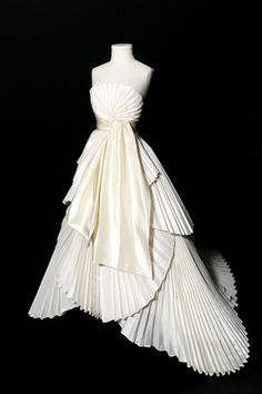 Miniature versions of iconic dresses from the house of Dior from 1947 to 1950, decorate the couture salon at the house's Avenue Montaigne address, where 44 pieces from its latest jewelry collection...