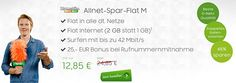 2GB Telekom Allnet Flat für 12,85€ http://www.simdealz.de/telekom/klarmobil-allnet-spar-flat-m/