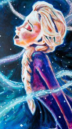 Elsa - Frozen 2 Painting - Art for Kids Room and Nursery