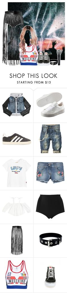 """Decode Tour: Sydney, Australia"" by epilxgue ❤ liked on Polyvore featuring Diesel, Puma, adidas Originals, Levi's, Ermanno Scervino, Milly, Monki, Valentino, Moschino and Vans"
