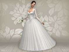 Lana CC Finds - Wedding dress - Cynthia (S4)