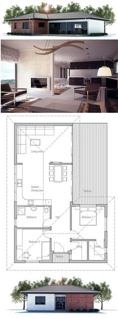 House Plan CH222 | Total Living Area: 1023 sq. ft.