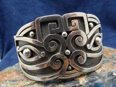 Cuff | Los Castillo.  Sterling silver.  ca. 1950s.