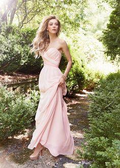 A-Line Pink Yellow Sweep Train Sweetheart Zipper Chiffon Sleeveless Evening Dresses