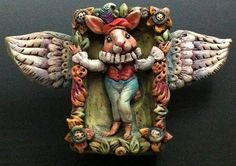 angel lapin by doreen kassel, via Flickr polymer clay