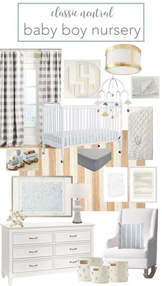 and White: Classic, Neutral Baby Boy Nursery Tips on Decorating Your Baby Nursery How Exciting! Baby Blue Nursery, White Nursery, Baby Boy Rooms, Nursery Neutral, Baby Boy Nurseries, Nursery Room, Girl Nursery, Coastal Nursery, Neutral Nurseries