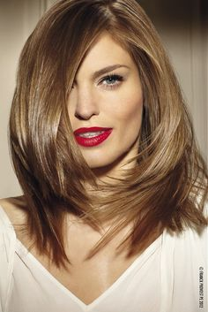 Side Swept- love the color- style way too short for me- I'm a long hair gal!