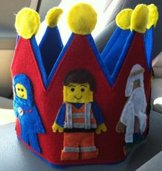 Lego Movie Inspired Felt Birthday Crown by SewCuteCharacters
