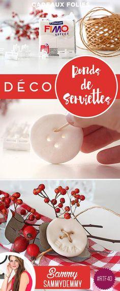 DIY décoration de Noël : ronds de serviettes originaux                                                                                                                                                      Plus